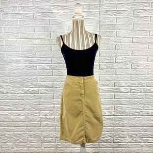 J.Crew Tan Corduroy Skirt